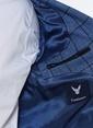 Comienzo Slim Fit Ekose Blazer Ceket Mavi